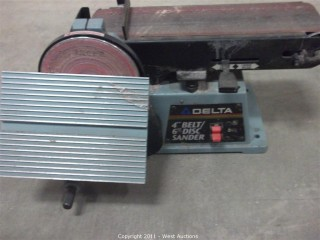 "Delta 4"" Belt and 6"" Disc Sander"