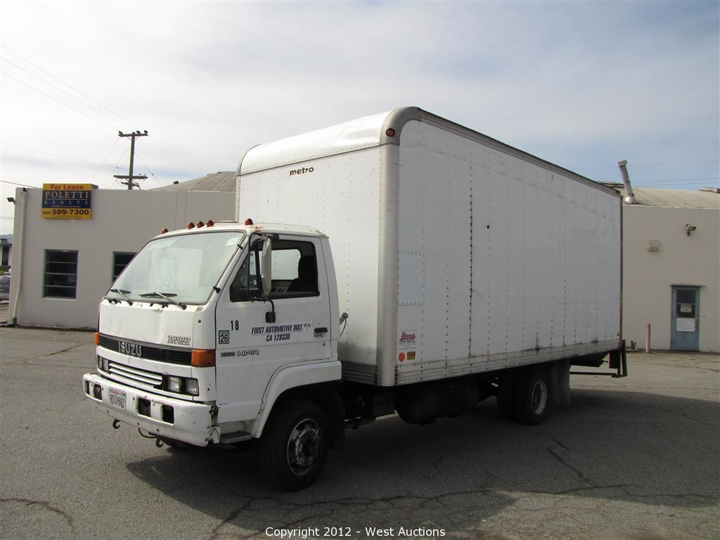Post Auction of Mac-Go Bankruptcy - 1992 Isuzu Box Truck