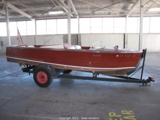 1954 Correct-Craft Runabout Classic Wooden Ski Boat and Trailer