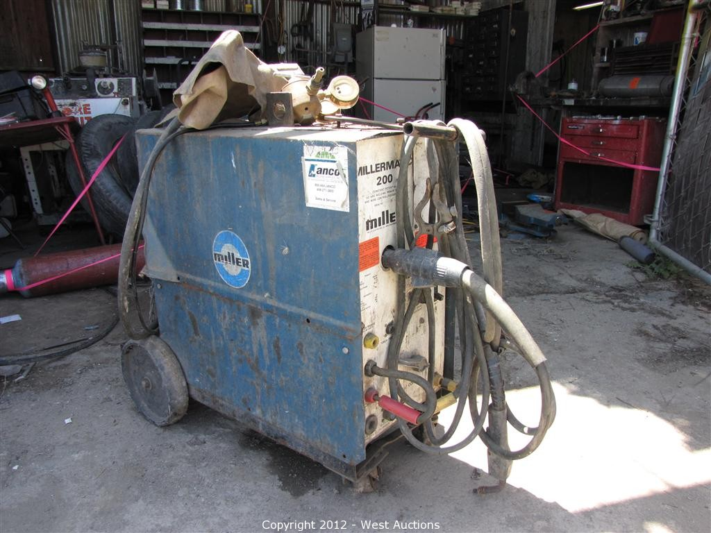 West auctions auction trailer and construction equipment item millermatic 200 arc welder - Webaccess leroymerlin fr ...