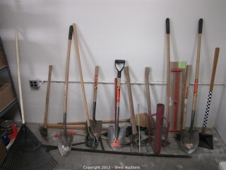 Shovels, Post Pounder, Rake, Hoes, Axe