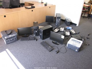 Desktop Computers, Laptop Computers, Computer Accessories, Telephones