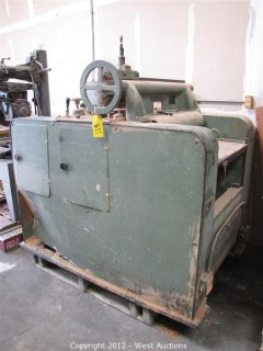 "Buss Machine Works 24"" Planer"