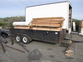 1980 16' Utility Trailer with Wood Stock