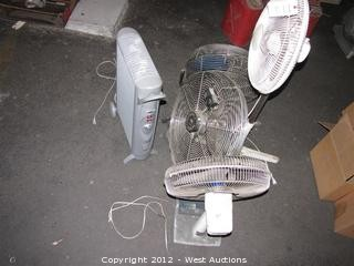 (4) Fans and (1) Heater
