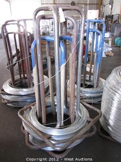 (3) Steel Wire Spools with Wire Stock