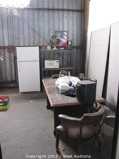 Office Desk and Contents, Refrigerator