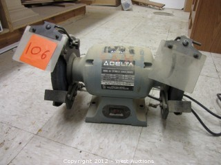 West Auctions Auction Scaffolding Saws Construction Tools And More Item Delta Bench Grinder