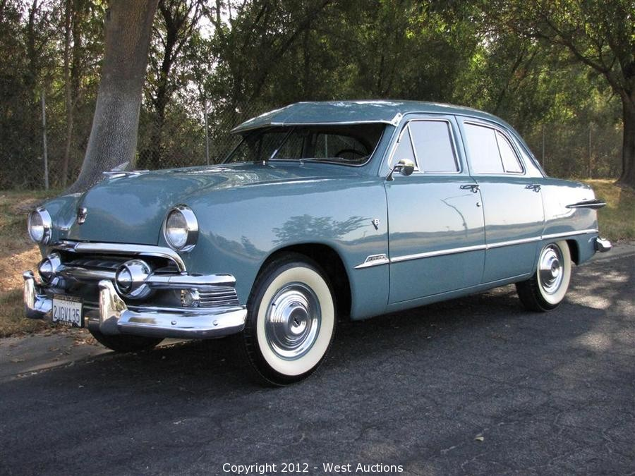 Bankruptcy Auction of Classic 1951 Ford Custom Four Door Sedan