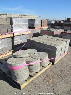 (2) Pallets Exposed Agregate Pavers