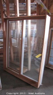 WoodClad Double Pane Sliding Window