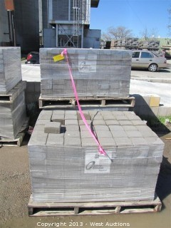 (3) Pallets of Cobble Stone Mojave Blend Square Pavers