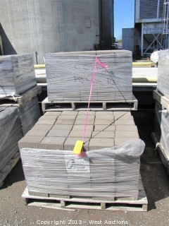 (3) Pallets of Cobble Stone Mojave Blend Rectangular Pavers