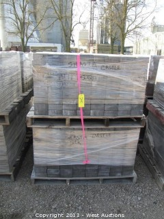(4) Pallets of Castle Stone Shasta Blend Square Pavers