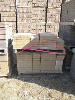 (2) Pallets of Metro Stone White/Tan Pavers