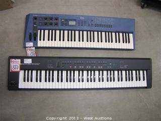Yamaha CSIX Control Synthesizer and Roland A-30 MIDI Keyboard