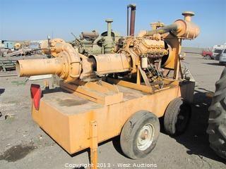 """8"""" Berkeley Irrigation Pump with Caterpillar 1150 Diesel on Trailer"""