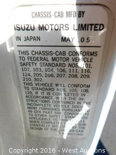 2006 Isuzu NQR 5.2L Diesel 12' Flatbed Truck