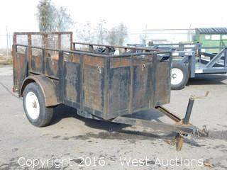 Dargo Utility Trailer with Integral Steel Sides and Ramp