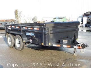 2016 Load-Trail 6,000 lb. Capacity Dump Trailer with Stakeside Extension Package