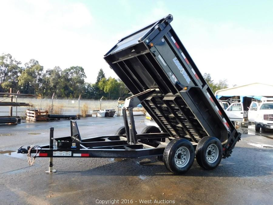 2014 Chevrolet Express Van and 2016 Load-Trail Dump Trailer