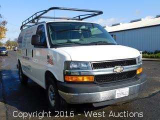 2014 Chevrolet Express Van with Interior Utility Racks