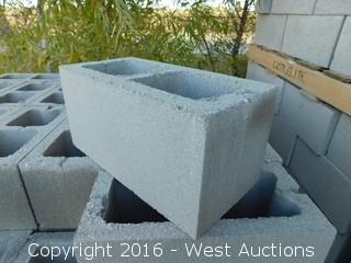 (1) Pallet of 8x8x16 Standard Light Weight Grey Precision