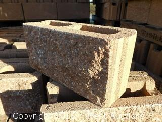 (1) Pallet of  6x8x16 Tongue and Groove Fence Block - Split Face One-Sided/Precision 419 Tan