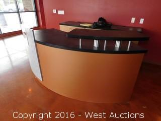 Curved Reception Counter 7' x 3'