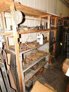 Lathe and Milling Machine Parts With Wooden Shelving Units