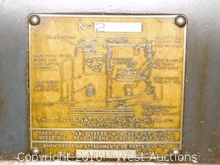 Cincinnati #2 Milling Machine with Kempsmith Vise