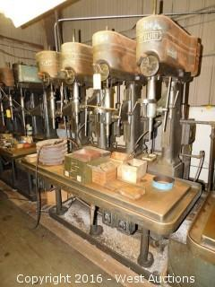 (2) Footburt (4) Spindle Drill Press