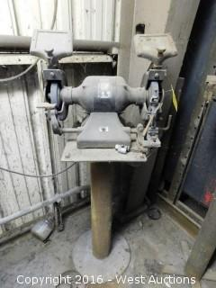 Driver Bench Grinder on Pedestal