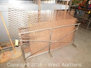 Metal Rack with Contents of 8+ Metal Mesh Sheets