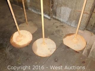 (4) Steel Standing Rods