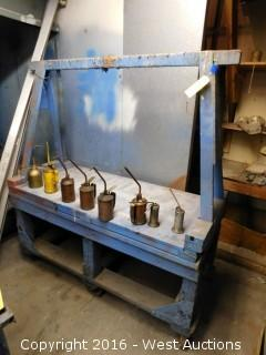Paint Dryer Rack on Casters with Oiler Cans
