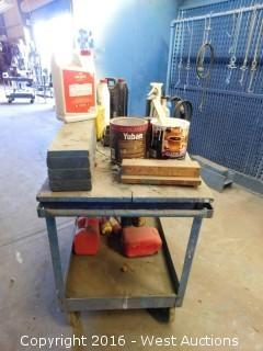 Paint Cart with Contents
