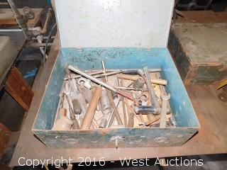 Box with Wrenches, Drill Bits and Sockets