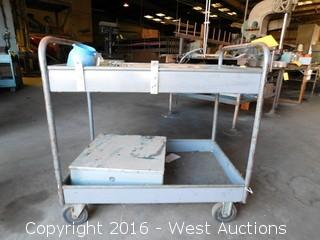 Metal Utility Cart with Contents