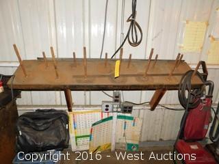 Wall Mounted Steel Spool Rack