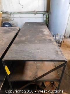 8' Long Steel Table (table only)