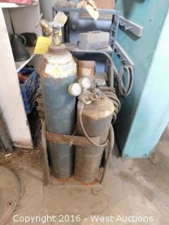 Oxygen/Acetylene Cutting Torch Set With Cart