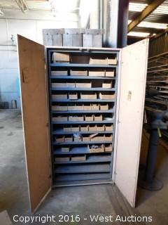 Storage Cabinet Filled with Parts