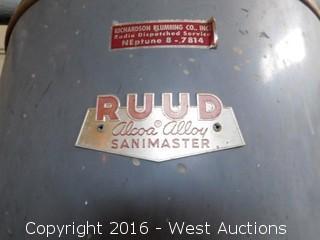 RUUD Alcoa Alloy Sanimaster Water Heater Tank