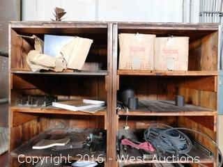 (2) Wooden Cabinets with Contents
