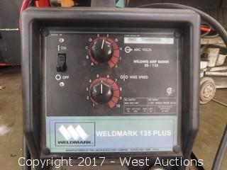 Lincoln Weldmark 135 Plus Welder on Cart