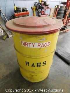 Dirty Rags Waste Bin (empty)