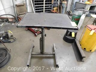 Mechanics Adjustable Mobile Table