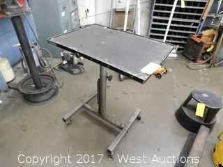 Mechanics Adjustable Mobile Table