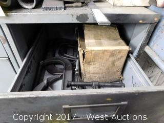 (1) 4 Drawer File Cabinet with Mechanics Tools